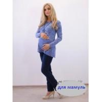 Туника для беременных голуб меланж