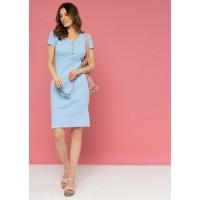 Платье для беременных и кормящих. Голубое