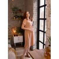 Платье для беременных  и кормящих. Пудра