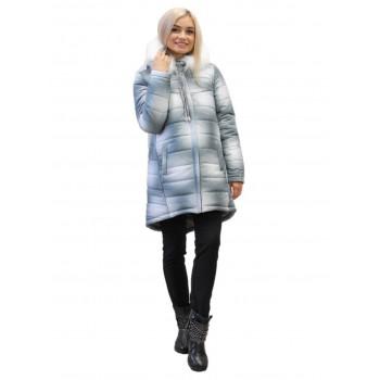 Куртка для беременных зимняя удлин.  арт.34019